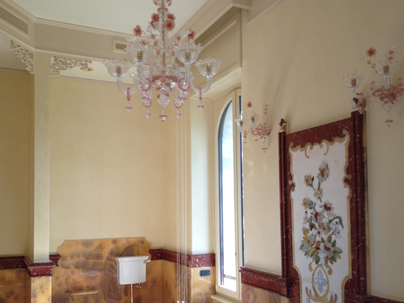 Stucco a calce, bagno abitazione privata, Oliveto Lario