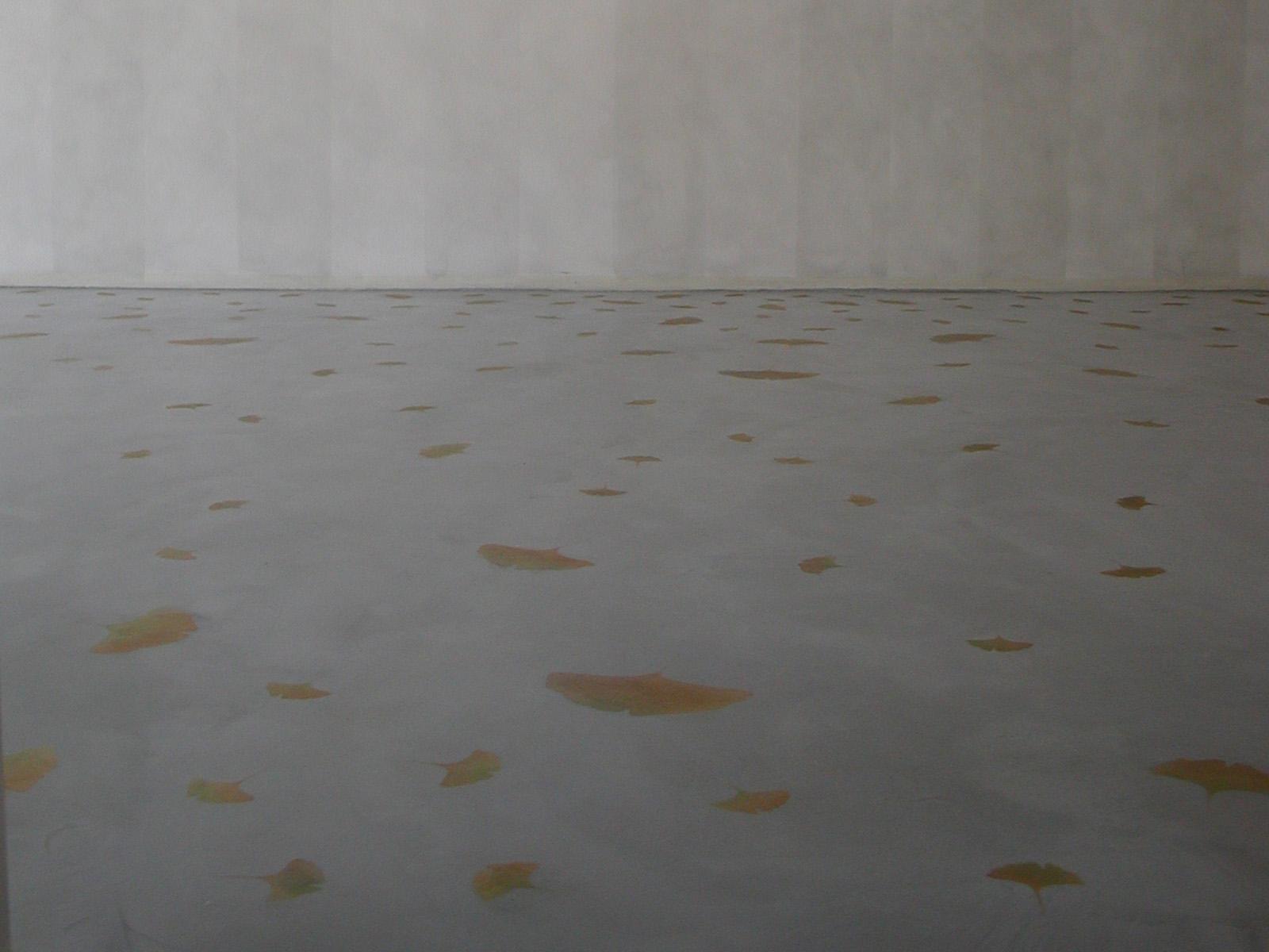 Pavimento in resina decorato, abitazione privata, Milano